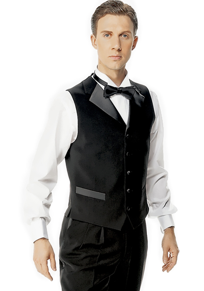 Taka Mens Ballroom Vest with Satin Lapel JV07-C