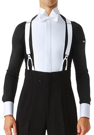 dfeb0bcbe Taka Mens Revolution Ballroom Dance Shirt MS281 without Collar-Black/White