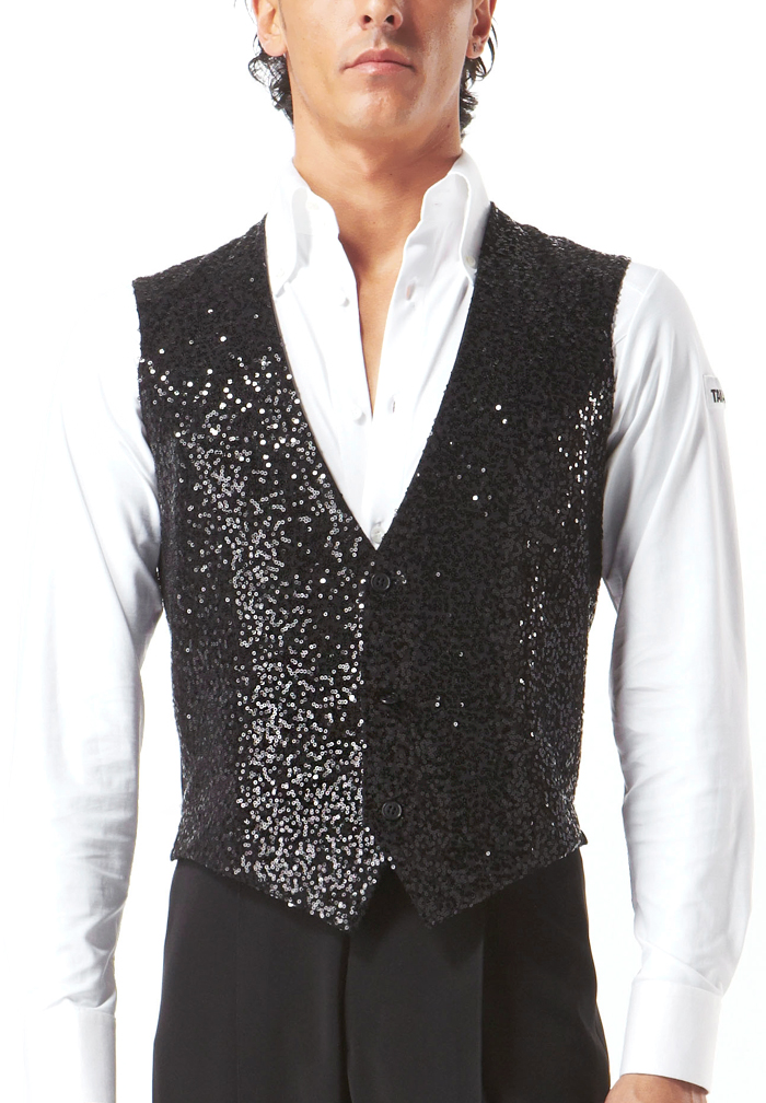 Taka Mens Sequined Dance Vest MV06