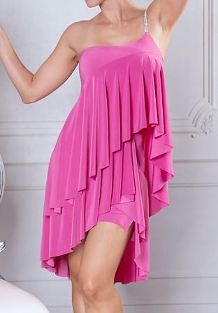 ef33358eaab Dance America D915 - Ruffled Baby Doll Dress-Hibiscus