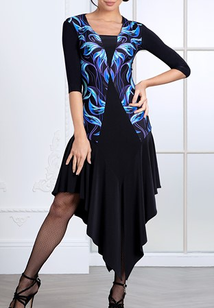ac63ca62c219 Espen for Chrisanne Clover Vienna Latin Dress-Black/Print