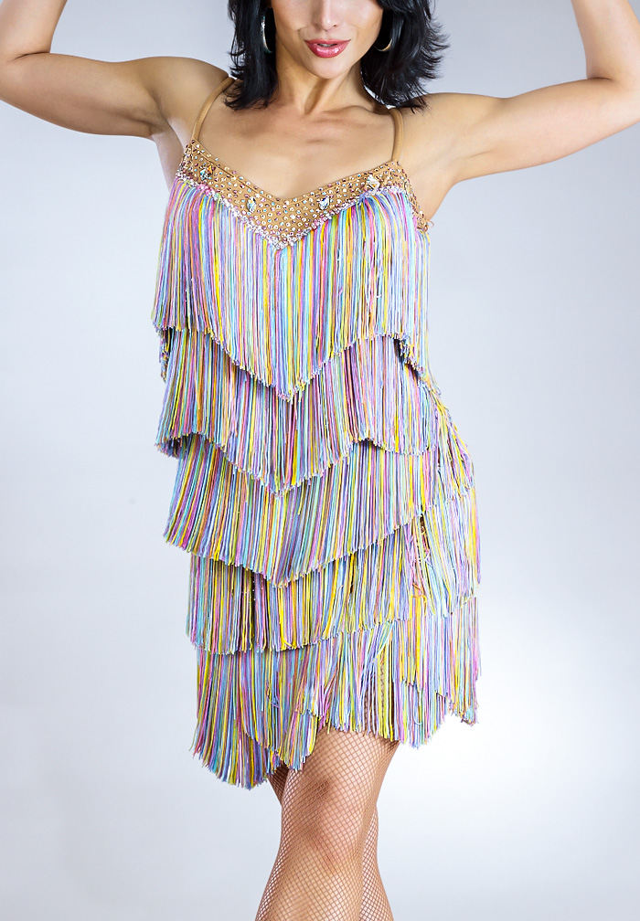 Santoria Bellance Latin Fringe Dress DR7033