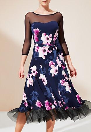 0b21c990a0 PopconAtelier Ballroom Dress ED010-Navy Pink