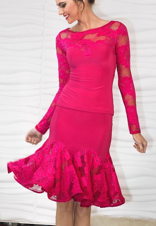 32ad7f996c7 Dance America S714 - Short Lace Godet Skirt