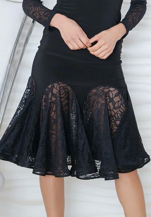 5af32afd0fb Dance America S814 - Short Lace Godet Skirt