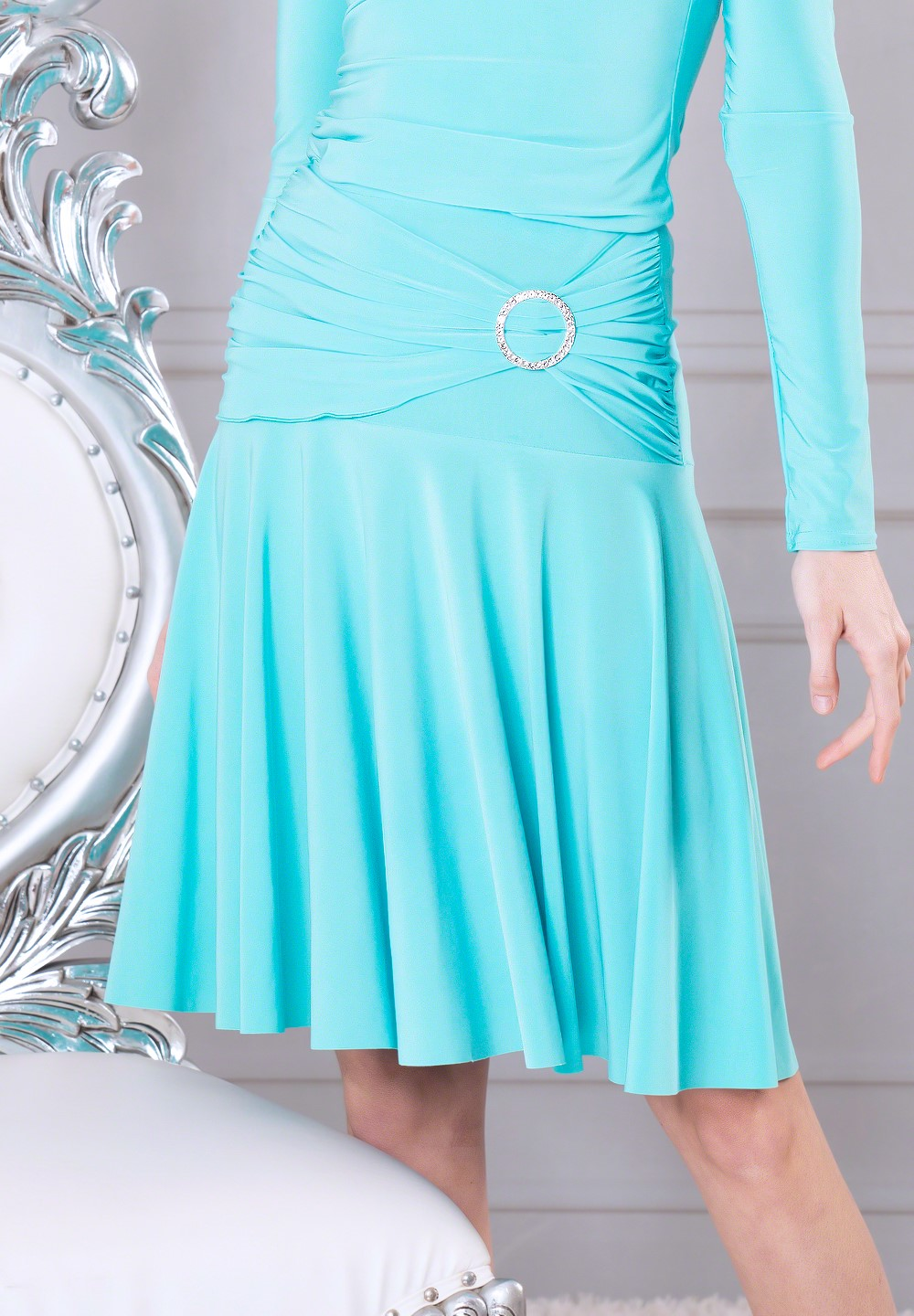 0cce6564a Dance America S909 - Simple Skirt with Stoned Drop Yoke. $79.00. 1 / 2