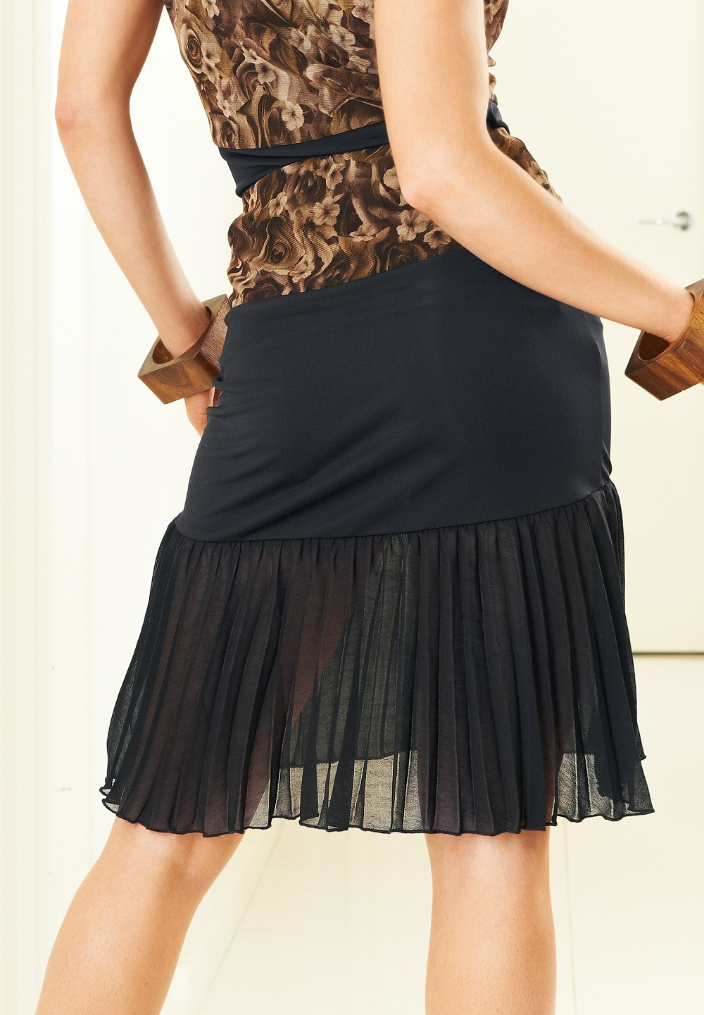 ab8855fa8f94 Je Dor Sassy Pleat Latin Dance Skirt J3282|Skirts