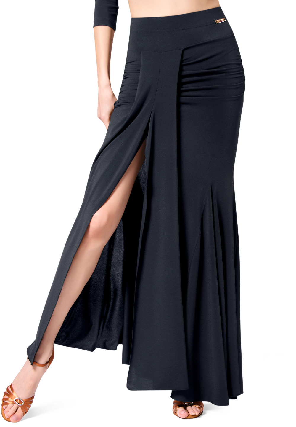 Maly Womens Skirt Long With Slit MF181501