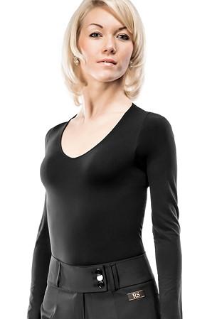 e18cbc33b4 RS Atelier Roberta Open Neck Body Shirt-Black