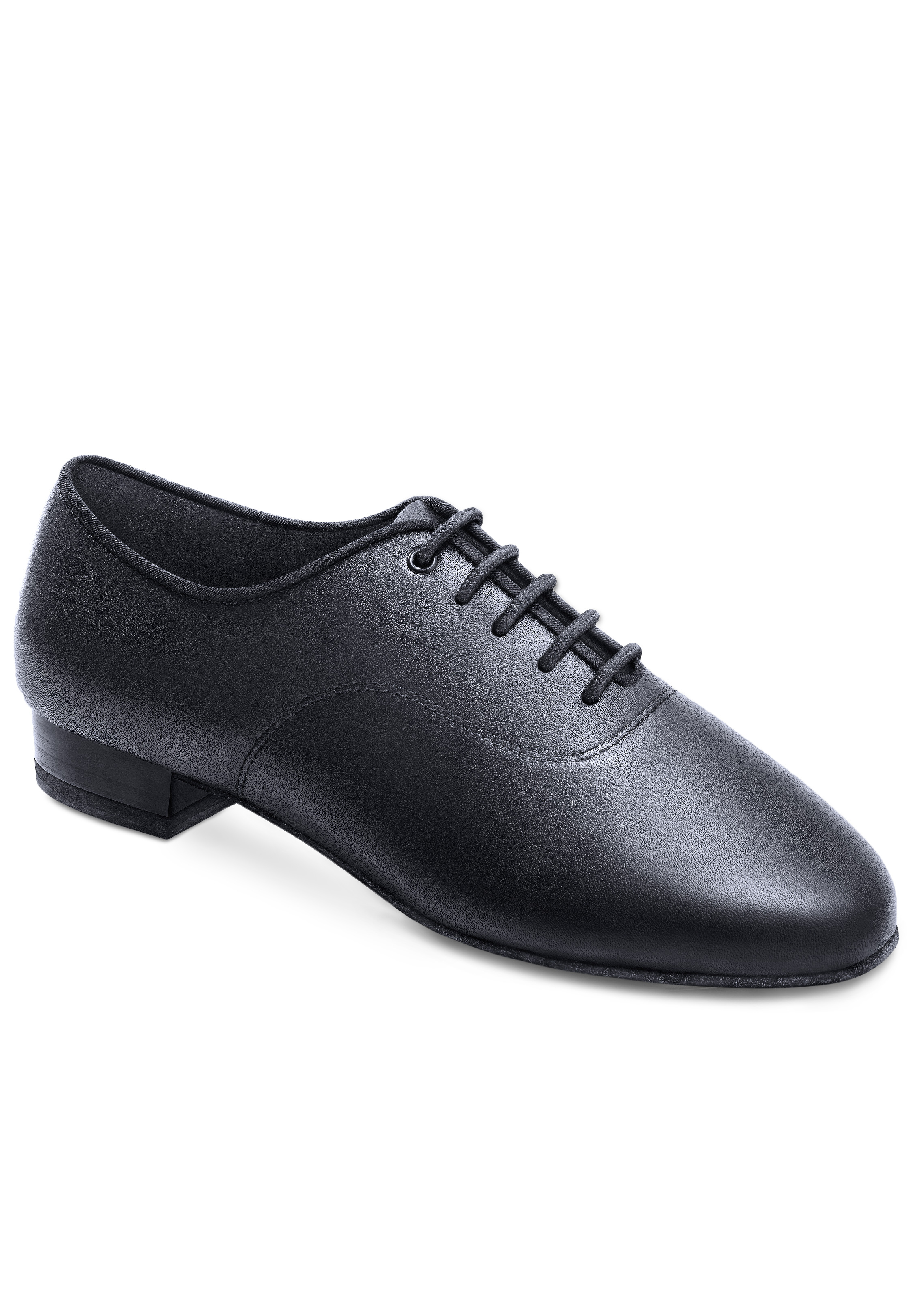 Mens Latin Dance Shoes Black Leather Croc 1 inch Standard and Smooth