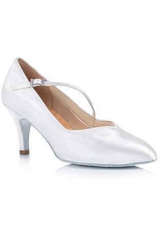 Freed Of London Lowe Ballroom Dance Shoes White Satin