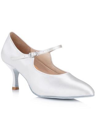 Freed Of London Rita Ballroom Dance Shoes White Satin