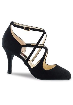 f4878de25982 Nueva Epoca Jaida Tango Shoes-Black Suede