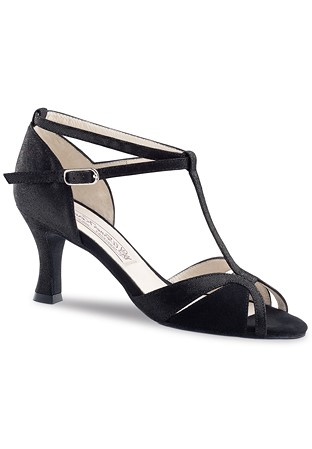 83a9bc532 Werner Kern Ida T-Bar Dance Shoes-Black Stella / Black Suede